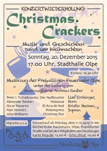 Plakat Wiederholungskonzert Christmas Crackers