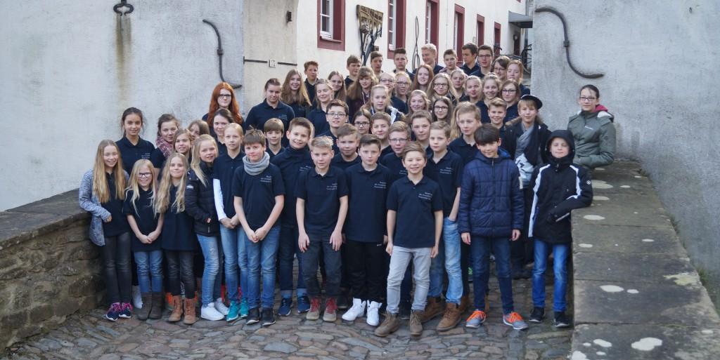 Foto der Mitglieder der Jugendorchester.