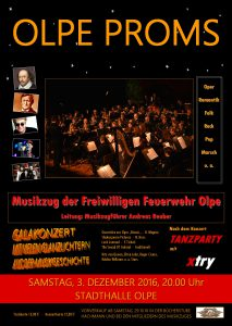 "Das Plakat zum Konzert ""Olpe Proms"""