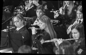 Ein Ausschnitt des Flöten und Oboensatzes des Olper Orchesters.