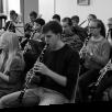 Das Klarinettenregister der Jungen Harmonie