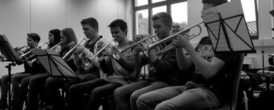 Das Trompetenregister der Jungen Harmonie