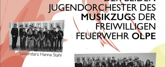 Das Plakat des Jugendorchesterkonzerts 2018